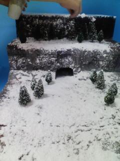 雪山を作成中